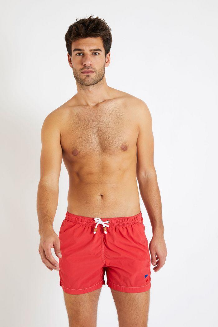 Short de bain rouge DAVID GINEPRO