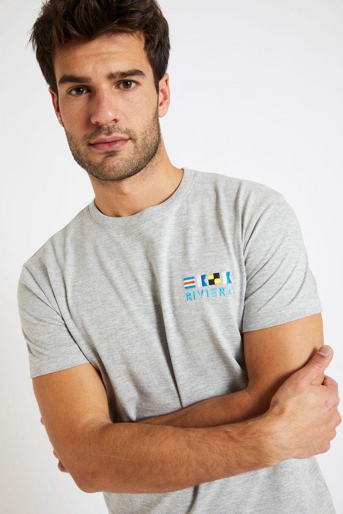 T-shirt à manches courtes gris TSMC BRODFLAG