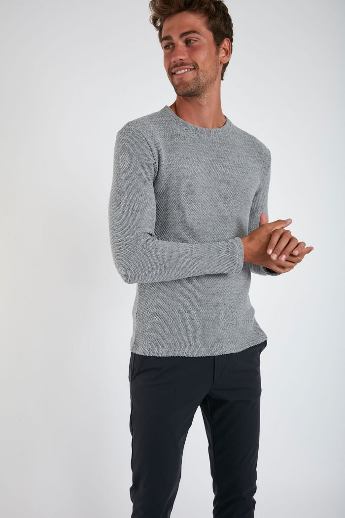 Sweatshirt Gris Chiné PAUL LUNASSA