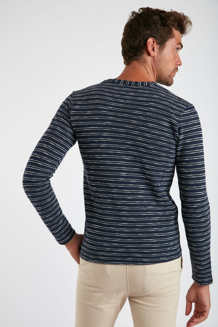 Sweatshirt rayé Marine PAUL VISTA