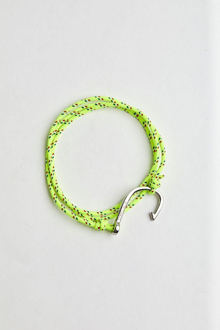 Bracelet Corde Fluo Jaune - HAMEÇON BRACELET