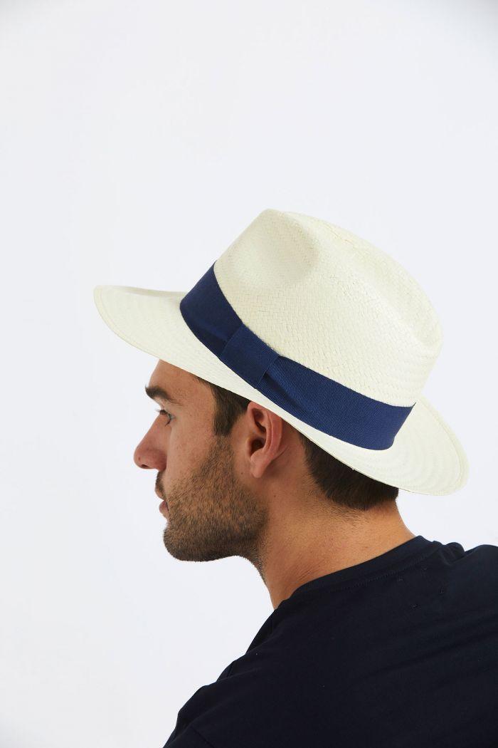 Chapeau de plage Panama Marine PANAMA CHAPEAU