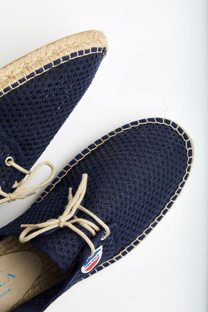 Espadrilles à lacets Marine RIVIERA HÉRITAGE