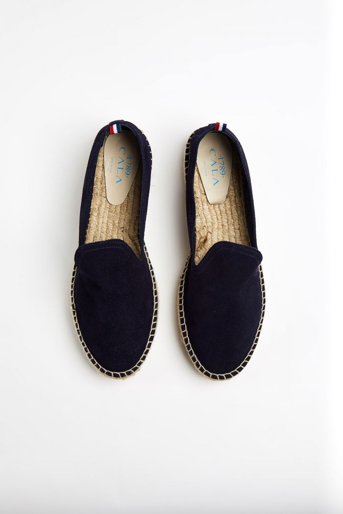 Espadrilles Slip On Double Cuir Marine SLIPON DOUBLE LEATHER