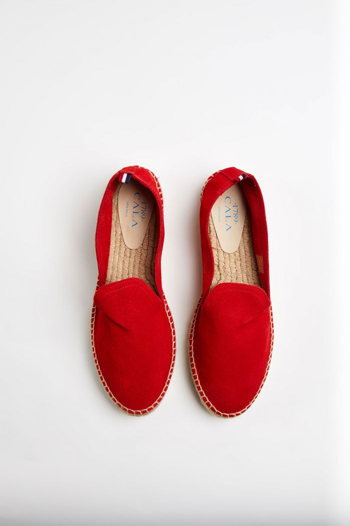 Espadrilles Slip On Double Cuir Rouge SLIPON DOUBLE LEATHER