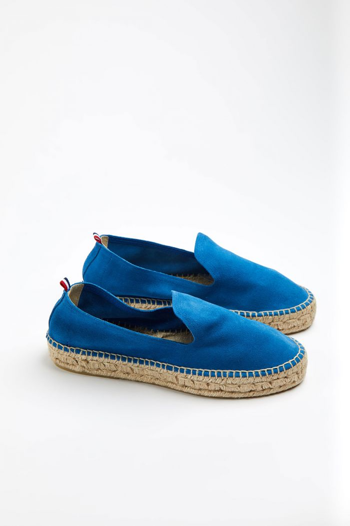 Espadrilles Slip On Double Cuir Bleu SLIPON DOUBLE LEATHER