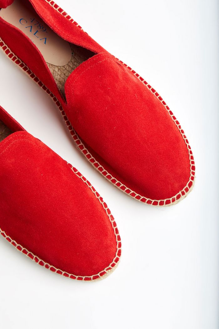 Espadrilles Slip On Cuir Rouge SLIPON LEATHER