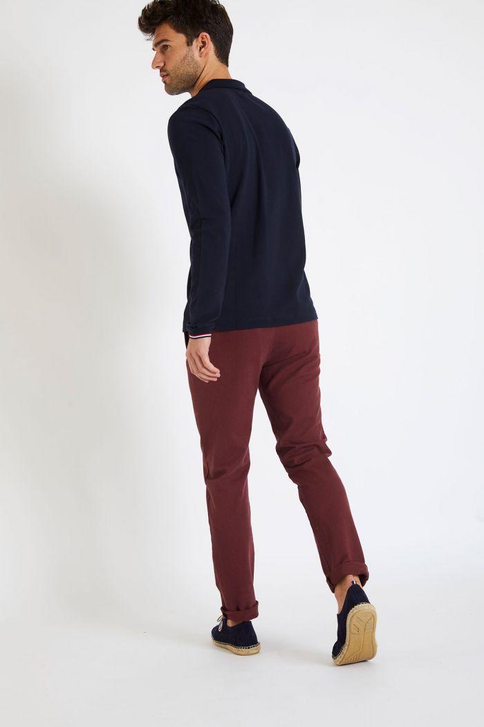 Pantalon en coton bordeaux - CHINO UNI
