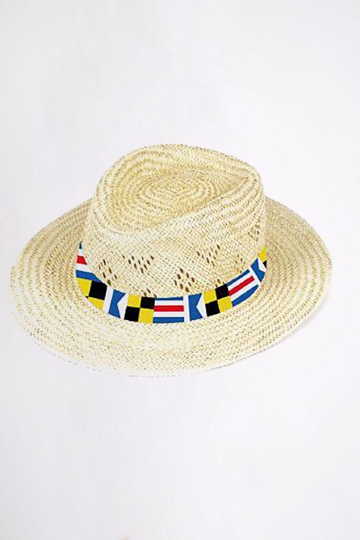 Chapeau de plage Palma motif pavillon Multicolore PALMA PAVILLON CALA