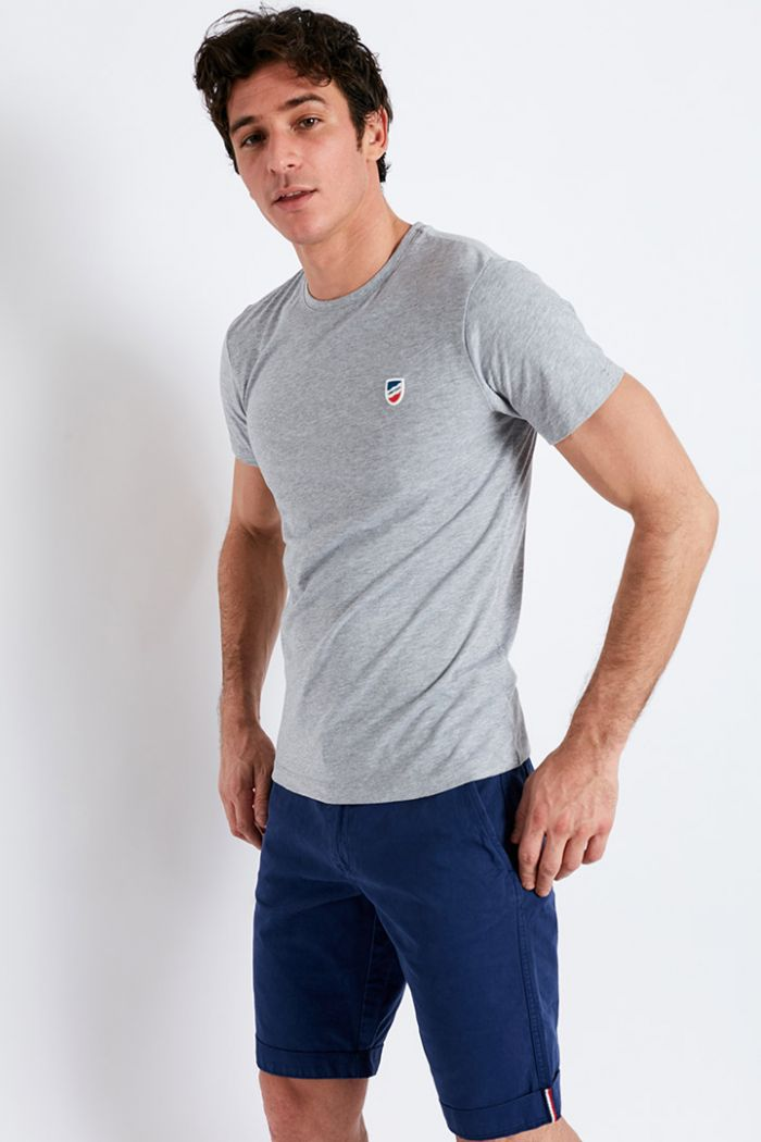 T-shirt manches courtes Gris écusson TSMC UNICALA