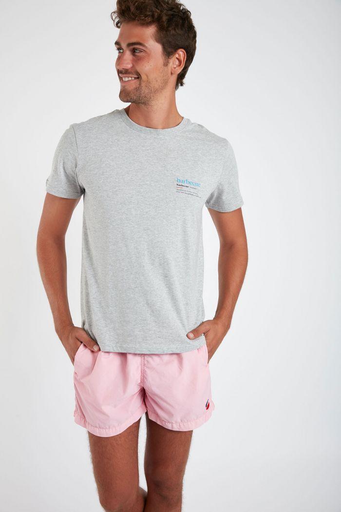 T-shirt gris en coton - Barbecue YANNBBQ DICTIO