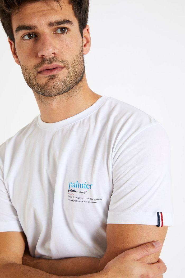 T-shirt blanc en coton - Palmier YANNPALM DICTIO