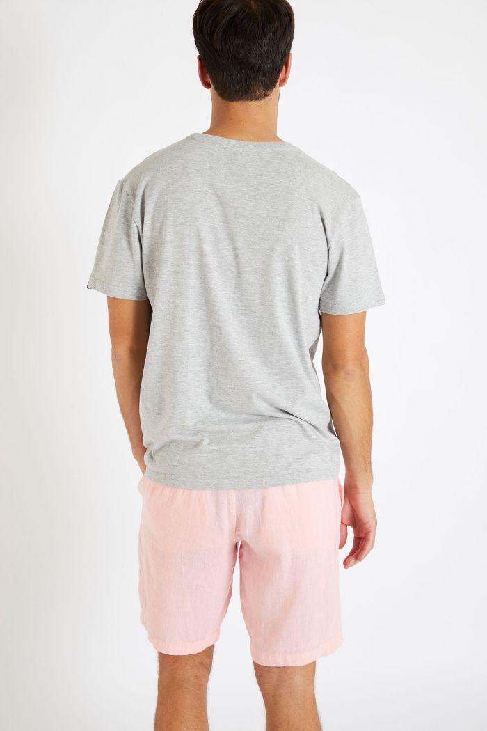 T-shirt gris en coton - Palmier YANNPALM DICTIO