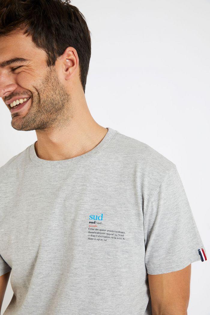 T-shirt gris en coton - Sud YANNSUD DICTIO