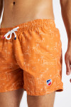 Short de bain imprimé orange MANU MASCIOLA