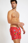 Short de bain rouge - Broderie drapeaux SWIMSHORT BRODFLAG