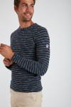 Sweatshirt rayé Marine PAUL VISTA