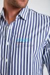 Chemise rayée bleue en coton - Croisière PIERRECROIS DICTIO