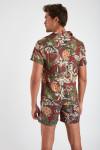 Chemise manches courtes bordeaux à fleurs STEFANO MAUI