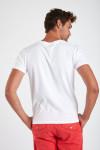 T-shirt blanc en coton requin YANN SHARK