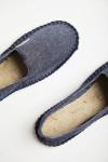 Espadrilles en toile Bleu Jean - Made in France CLASSIQUE UNI