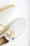 Espadrilles à lacets Blanche RIVIERA HÉRITAGE