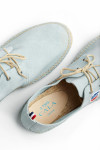 Espadrilles à lacets en cuir Bleu Azur RIVIERA LEATHER