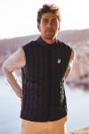 Doudoune légère duvet sans manches bleu marine homme GILET REGATE