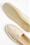 Espadrilles en toile broderie Etoile Malabar et Ecru - Made in France CLASSIQUE ETOILE
