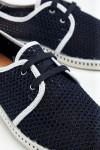Tennis à lacets Riva PPHéritage Marine et Blanc RIVA PPHERITAGE