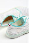 Tennis à lacets Riva PPHéritage Blanc et Bleu Lagon RIVA PPHERITAGE
