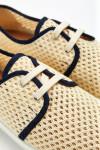 Tennis à lacets Riva PPHéritage Écru et Bleu Marine RIVA PPHERITAGE