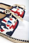 Espadrilles à lacets Motif Camouflage Bleu Blanc Rouge RIVIERA CAMO