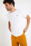 T-shirt manches courtes Blanc écusson TSMC UNI
