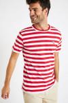 T-shirt manches courtes Marinière Rouge écusson TSMC MARIN