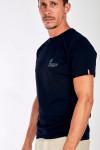 T-shirt marine en coton - Été YANNETE DICTIO