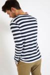 T-shirt manches longues marinière marine TS MLONG MARIN