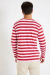 T-shirt manches longues marinière rouge TS MLONG MARIN
