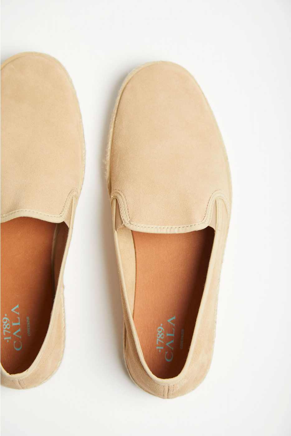 Slip on en cuir beige AZUR ESCALE
