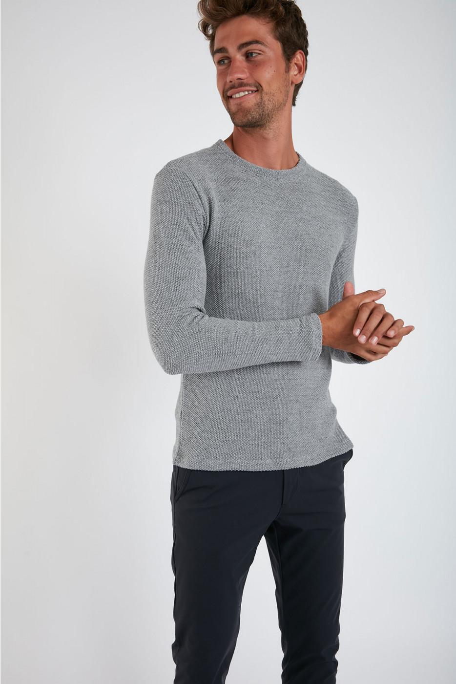 Sweatshirt Gris Chiné PAUL LUNASSA