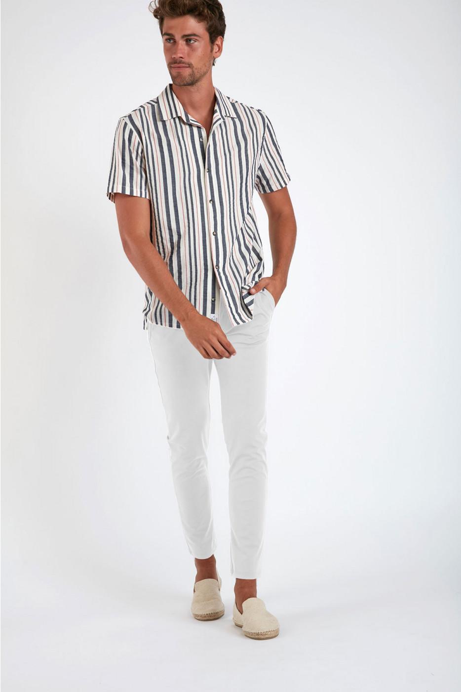 Pantalon stretch blanc - SERGE LESCADA