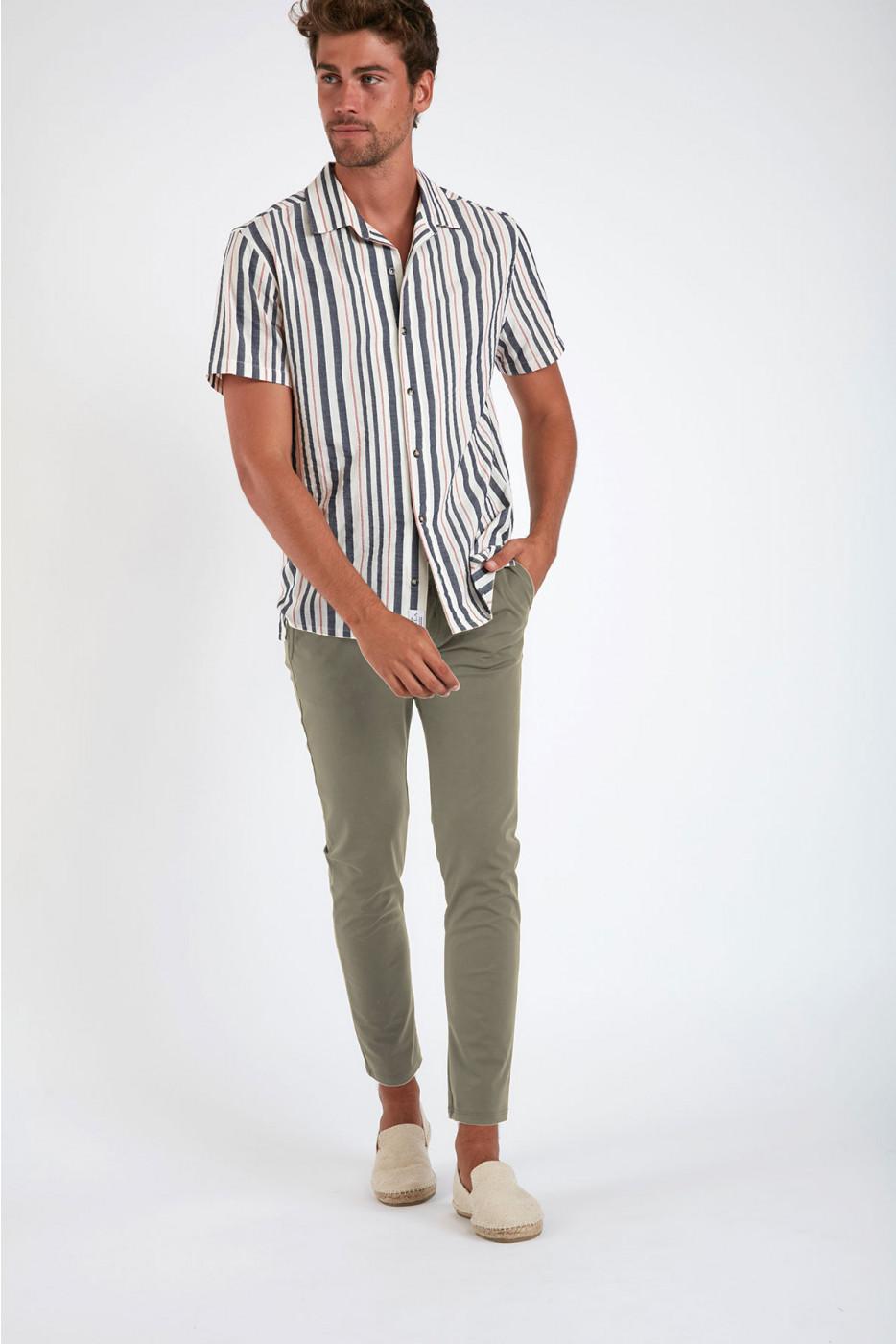 Pantalon stretch beige - SERGE LESCADA