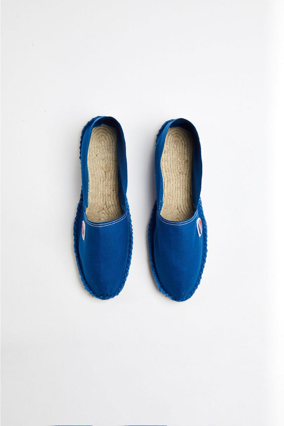 Espadrilles en toile Bleu France CLASSIQUE UNI