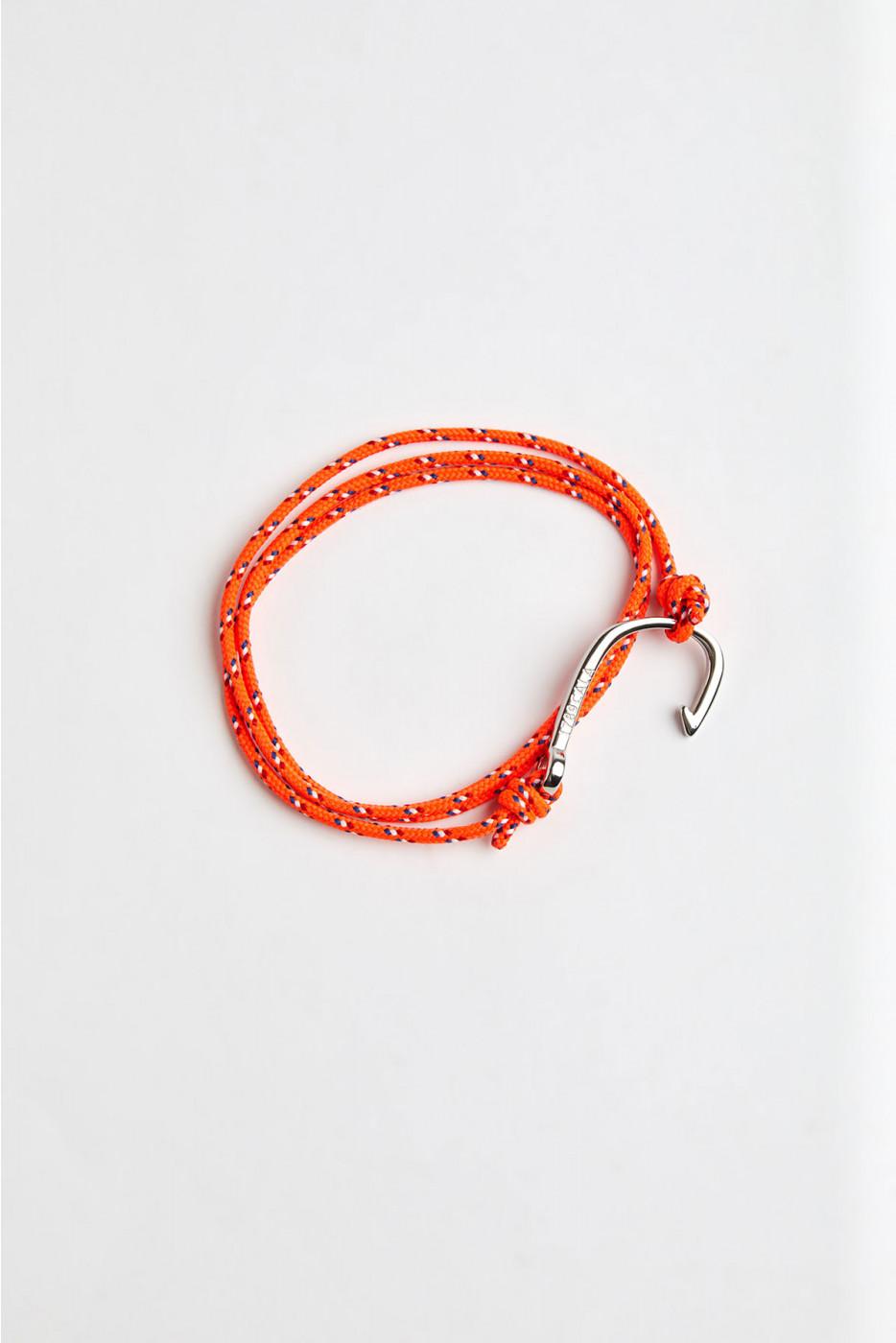 Bracelet Corde Fluo Orange - HAMEÇON BRACELET