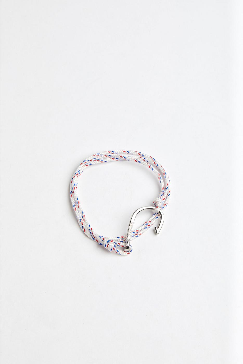 Bracelet Corde Blanc -  HAMEÇON BRACELET