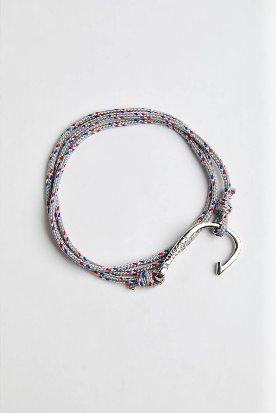 Bracelet Corde Gris Clair - HAMEÇON BRACELET