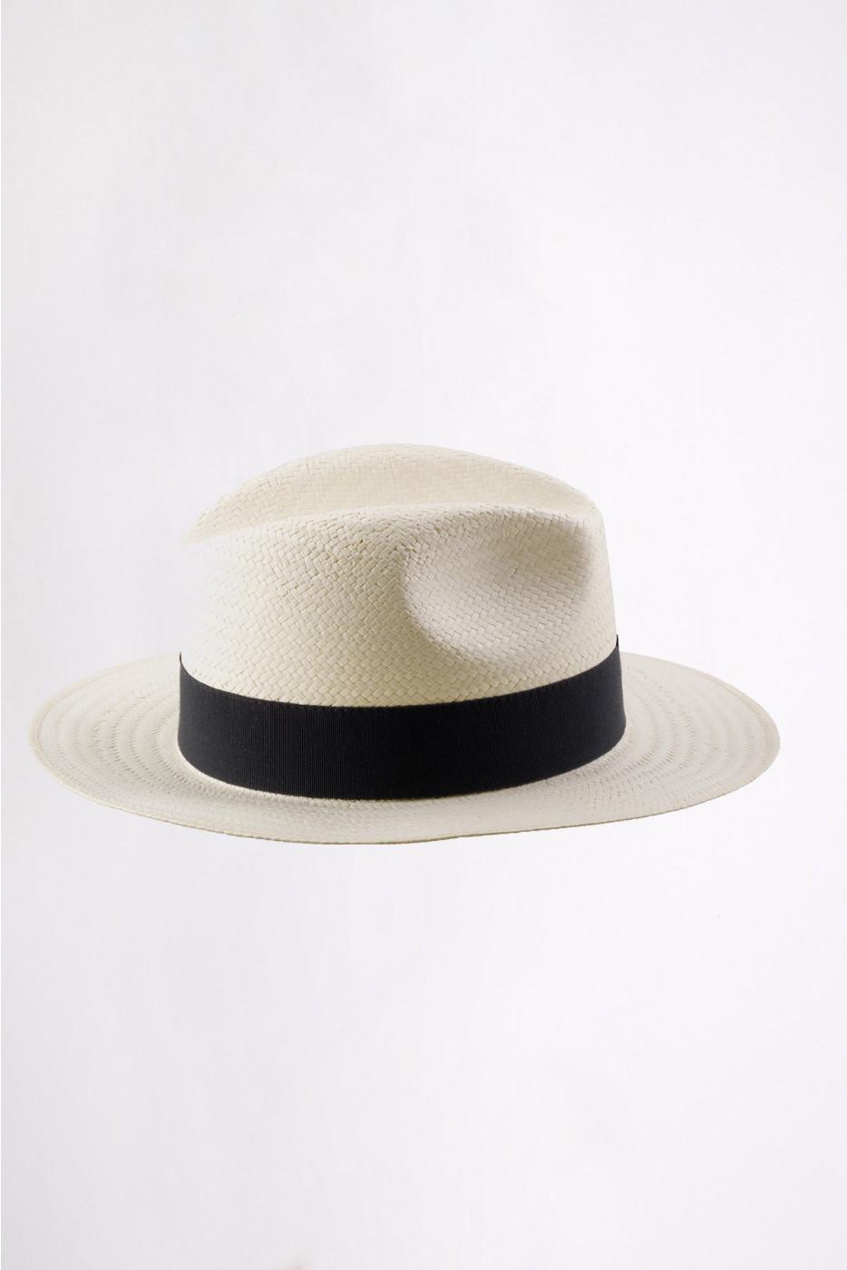 Chapeau de plage Panama Noir PANAMA CHAPEAU