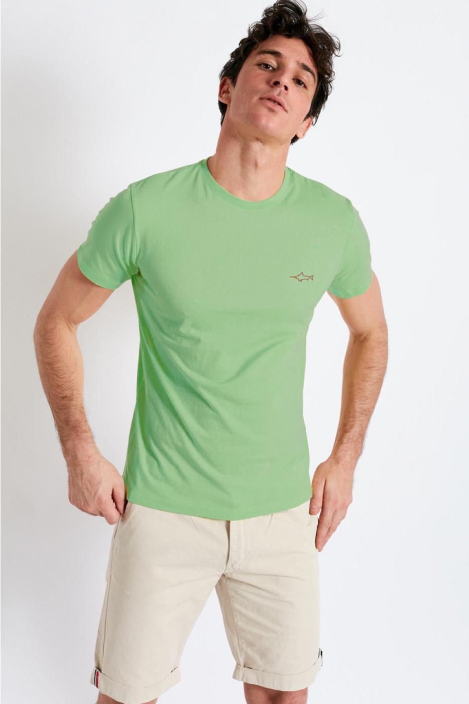 T-shirt manches courtes vert Broderie Espadon TSMC BRODERIE