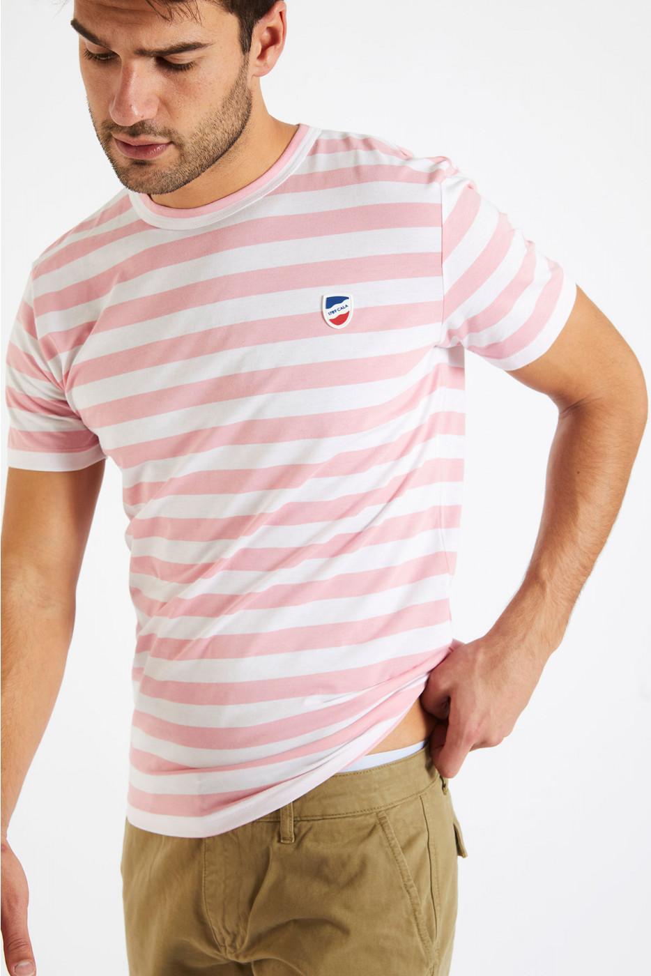 T-shirt manches courtes Marinière Malabar écusson TSMC MARIN