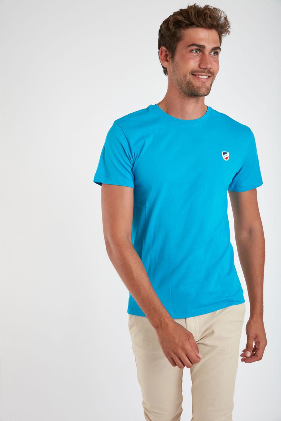 T-shirt manches courtes Bleu Lagon écusson TSMC UNICALA